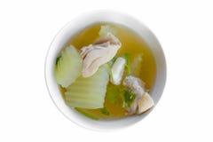 Sopa do melão de inverno com galinha Fotografia de Stock