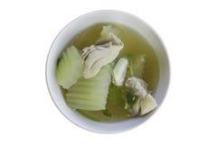 A sopa do melão de inverno com galinha Foto de Stock Royalty Free
