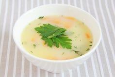 Sopa do milho Fotografia de Stock