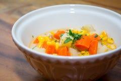 Sopa do milho Fotos de Stock Royalty Free