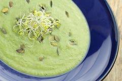 Sopa do puré dos brócolis fotografia de stock royalty free