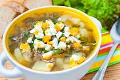 Sopa do Sorrel Imagens de Stock