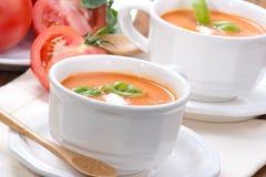 Sopa do tomate fotos de stock