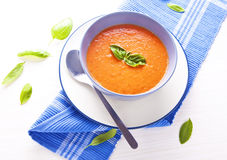 Sopa do tomate Imagem de Stock Royalty Free