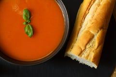 Sopa do tomate Imagens de Stock Royalty Free