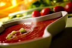 Sopa do tomate Fotografia de Stock Royalty Free