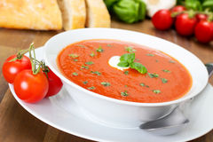 Sopa do tomate Fotos de Stock