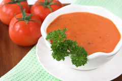 Sopa do tomate Fotos de Stock Royalty Free