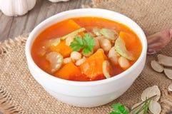 Sopa do tomate com abóbora Fotos de Stock