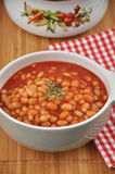 Sopa do tomate com feijões Foto de Stock Royalty Free