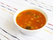 Sopa do tomate dos vegetais fotos de stock royalty free