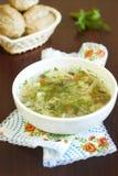 Sopa do vegetariano Fotos de Stock Royalty Free
