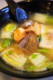 Sopa do vegetariano do estilo chinês imagens de stock
