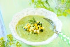 Sopa do Zucchini imagens de stock