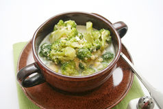 Sopa dos brócolis imagem de stock