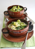 Sopa dos brócolis imagem de stock royalty free