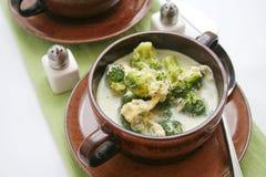 Sopa dos brócolis imagens de stock