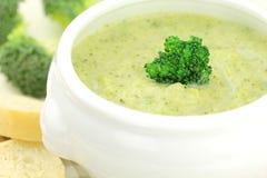 Sopa dos brócolos Fotografia de Stock Royalty Free