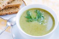 Sopa dos bróculos Fotografia de Stock