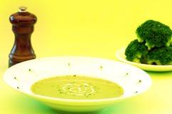 Sopa dos bróculos Imagens de Stock