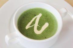 Sopa dos espinafres Foto de Stock Royalty Free