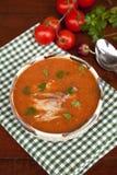 Sopa dos peixes com suco de tomate Imagem de Stock