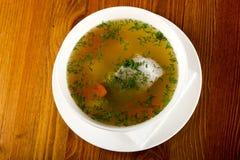 Sopa dos peixes com truta Imagens de Stock Royalty Free