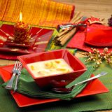 Sopa dos peixes do Natal Fotografia de Stock Royalty Free