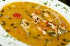 Sopa dos peixes frescos Imagem de Stock