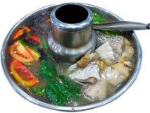 Sopa dos peixes, Tom Yum Fish Imagem de Stock