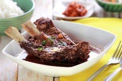 Sopa dos reforços de carne Fotos de Stock