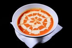 Sopa dos tomates Fotografia de Stock