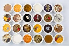 Sopa dulce mezclada fotos de archivo