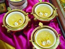 Sopa e camarões CHINESES Fotos de Stock
