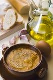 Sopa espanhola do alho do estilo Imagens de Stock