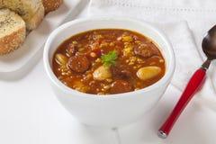 Sopa espanhola do chouriço Fotos de Stock