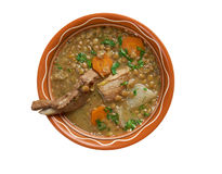 Sopa francesa com lentilhas e mostarda de Dijon Fotografia de Stock