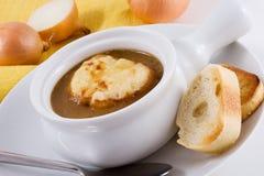 Sopa francesa da cebola Fotos de Stock