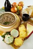 Sopa francesa da cebola Fotografia de Stock Royalty Free