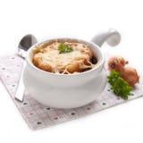 Sopa francesa da cebola Imagem de Stock