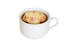 Sopa francesa de la cebolla Fotos de archivo