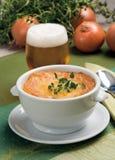 Sopa francesa de la cebolla Imagen de archivo