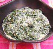 Sopa fresca com espinafres imagem de stock royalty free