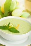 Sopa fresca do melão Imagens de Stock Royalty Free