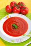 Sopa fresca do tomate Fotos de Stock Royalty Free
