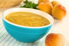 Sopa fria do pêssego imagem de stock royalty free