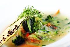 Sopa gourmet do vegetariano dos vegetais da estação Imagens de Stock Royalty Free