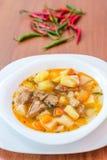 Sopa húngara da goulash (gulyas) Foto de Stock