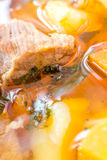 Sopa húngara da goulash (gulyas) Imagens de Stock