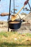 Sopa húngara de los pescados Imagen de archivo